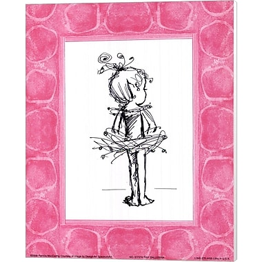 Evive Designs Tiny Ballerina Canvas Art