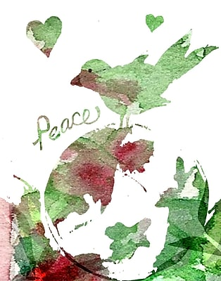 Evive Designs Peacebird by Holly Mcgee Painting Print