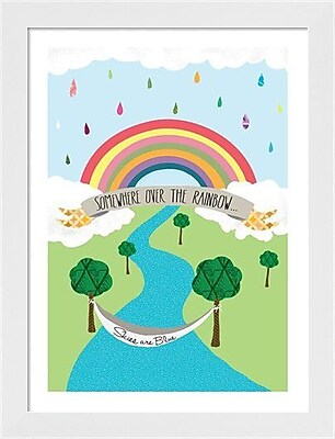 Evive Designs Somewhere Over the Rainbow by Stephanie Bertenshaw Framed Graphic Art