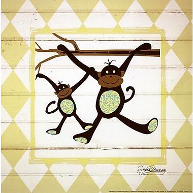 Evive Designs Monkeys Paper Print