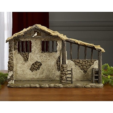Queens of Christmas Stable; 9.63'' H x 15'' W x 4.25'' D