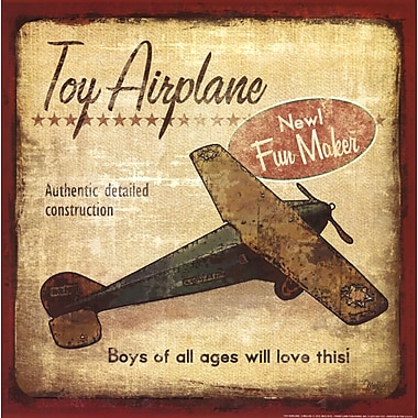 Evive Designs Toy Airplane Paper Print