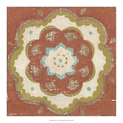Evive Designs Rustic Tiles VI by Chariklia Zarris Painting Print