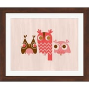 Evive Designs Owls by Jeanie Nelson Framed Graphic Art