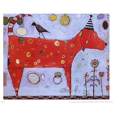 Evive Designs Red Bird by Jill Mayberg Painting Print