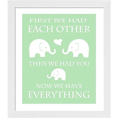 Evive Designs Elephant Typography by Ashley Calhoun Framed Textual Art