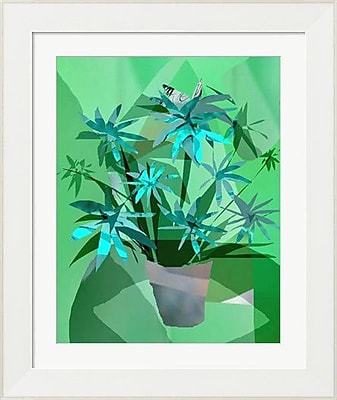 Evive Designs Crazy Flowers by Holly Mcgee Framed Graphic Art