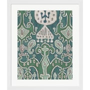 Evive Designs Emerald Ikat I by Chariklia Zarris Framed Painting Print