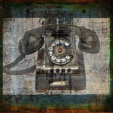 iCanvas 'Telephone' by Luz Graphics Graphic Art on Wrapped Canvas; 12'' H x 12'' W x 0.75'' D
