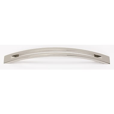 Alno Split Top 8'' Center Arch Pull; Polished Nickel