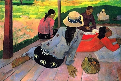 iCanvas 'The Siesta' by Paul Gauguin Painting Print on Wrapped Canvas; 12'' H x 18'' W x 0.75'' D