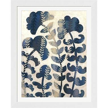 Evive Designs Blueberry Blossoms I by Chariklia Zarris Framed Graphic Art