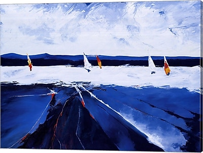 Evive Designs Riding the Waves by Candice Tait Painting Print on Wrapped Canvas