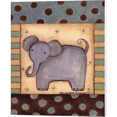 Evive Designs Baby Elephant Canvas Art