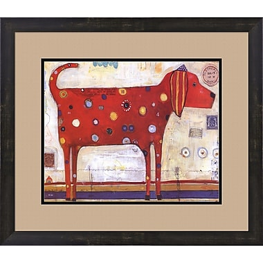 Evive Designs Red Stripes by Jill Mayberg Framed Painting Print