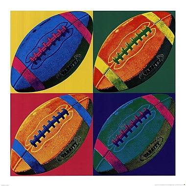 Evive Designs Ball Four Football Paper Print