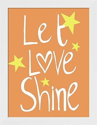 Evive Designs Let Love Shine Framed Art