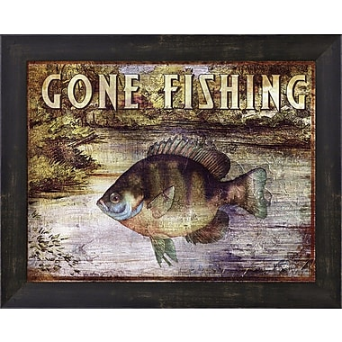 Evive Designs Gone Fishing by Paul Brent Framed Graphic Art