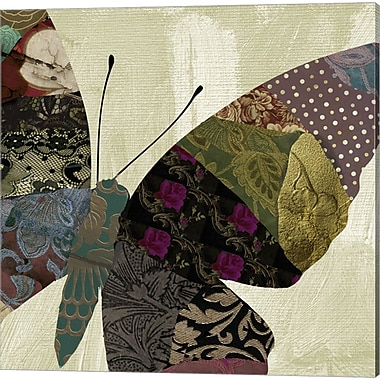 Evive Designs Butterfly Brocade IV by Color Bakery Graphic Art on Wrapped Canvas