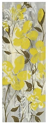 Evive Designs Buttercups on Grey II by Jennifer Goldberger Painting Print