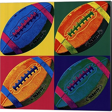 Evive Designs Ball Four Football Canvas Art