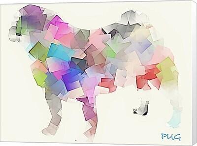 Evive Designs Pug by Bri Buckley Graphic Art on Canvas