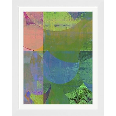 Evive Designs Pastel Quadrants I by Ricki Mountain Framed Painting Print