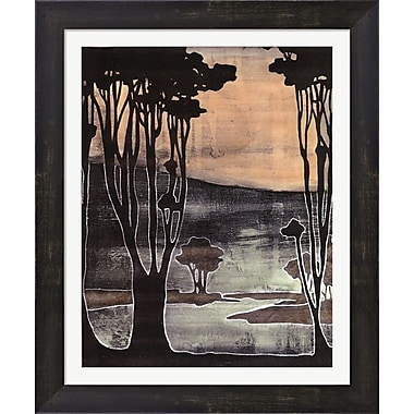 Evive Designs Small Nouveau Trees II by Jennifer Goldberger Framed Painting Print