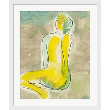 Evive Designs Figure in Relief II by Jennifer Goldberger Framed Painting Print