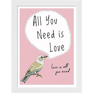 Evive Designs All You Need is Love by Felt Mountain Studios Framed Graphic Art