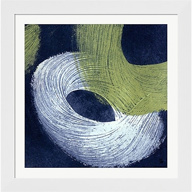 Evive Designs Blue Revolution IV by Megan Meagher Framed Painting Print