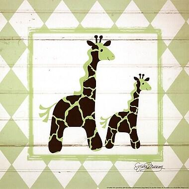 Evive Designs Giraffes Paper Print