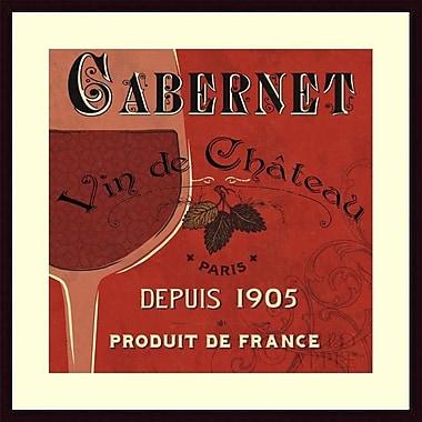 Printfinders 'Red Label I' by Pela Studio Framed Vintage Advertisement