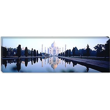 iCanvas Panoramic Taj Mahal India Photographic Print on Wrapped Canvas; 30'' H x 90'' W x 1.5'' D