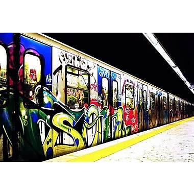 iCanvas Train Graffiti Photographic Print on Wrapped Canvas; 18'' H x 26'' W x 1.5'' D