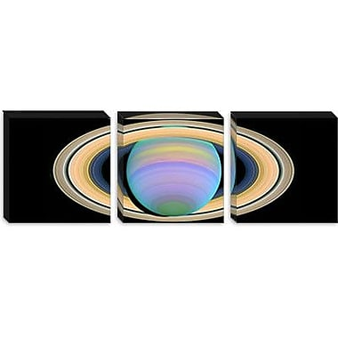 iCanvas Saturn's Rings in Ultraviolet Light Graphic Art on Wrapped Canvas; 20'' H x 60'' W x 1.5'' D