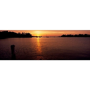 iCanvas Panoramic Sunrise over the Sea, Bermuda Photographic Print on Wrapped Canvas