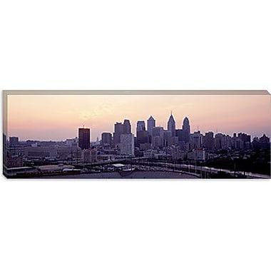 iCanvas Panoramic Sunrise Philadelphia, Pennsylvania Photographic Print on Wrapped Canvas