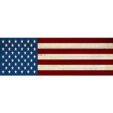 iCanvas Flags U.S.A. - Graphic Art on Wrapped Canvas; 12'' H x 36'' W x 0.75'' D