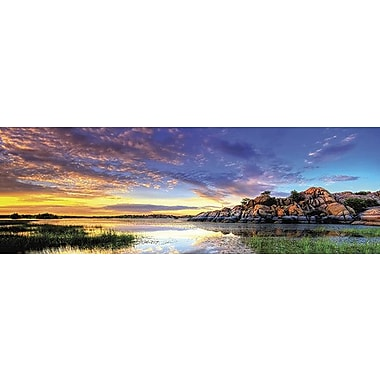 iCanvas Panoramic 'Willow Lake Spring Sunset' by Bob Larson Photographic Print on Canvas