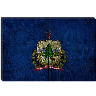 iCanvas Flags Vermont Board Graphic Art on Wrapped Canvas; 26'' H x 40'' W x 1.5'' D