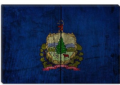 iCanvas Flags Vermont Board Graphic Art on Wrapped Canvas; 26'' H x 40'' W x 0.75'' D