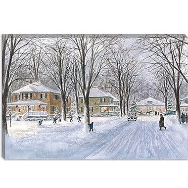 iCanvas ''The Snowball Fight'' by Stanton Manolakas Painting Print on Wrapped Canvas