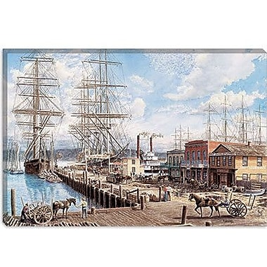 iCanvas Vallejo St. Wharf by Stanton Manolakas Painting on Canvas; 12'' H x 18'' W x 1.5'' D