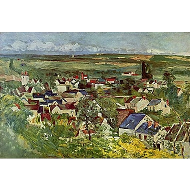 iCanvas 'View of Auvers' by Paul Cezanne Painting Print on Wrapped Canvas; 12'' H x 18'' W x 1.5'' D