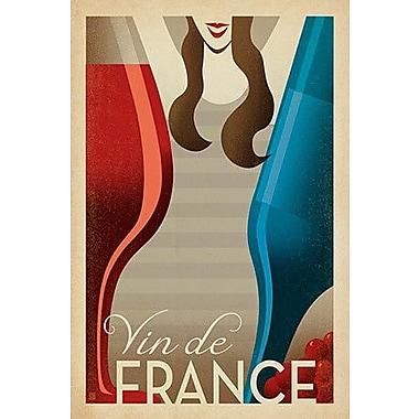 iCanvas 'Vin De France' by Anderson Design Group Vintage Advertisement on Canvas