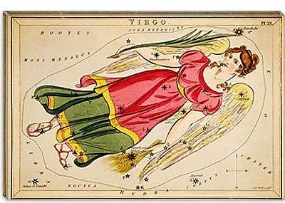 iCanvas Sidney Hall ''Virgo, 1825'' Graphic Art on Canvas; 26'' H x 40'' W x 1.5'' D