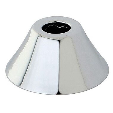 Kingston Brass 0.63'' Outer Diameter Bell Flange; Polished Chrome