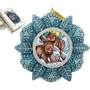 G Debrekht Kodiak Family Ornament