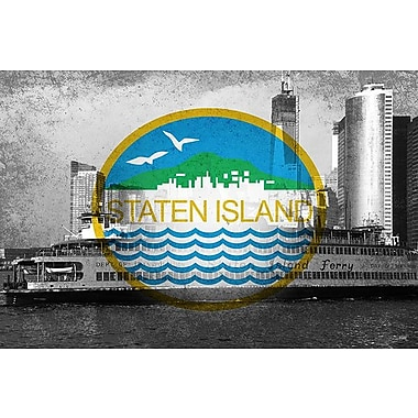 iCanvas Flags Staten Island Ferry Graphic Art on Wrapped Canvas; 18'' H x 26'' W x 0.75'' D
